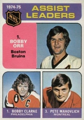 1975 Topps Assists Leaders #209 Hockey Card