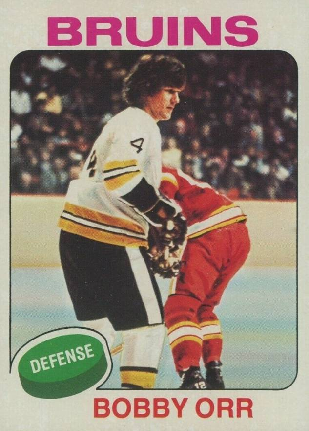 1975 Topps Bobby Orr #100 Hockey Card