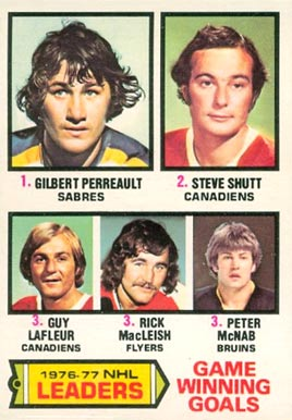 1977 O-Pee-Chee Gilbert Perreault #7 Hockey Card