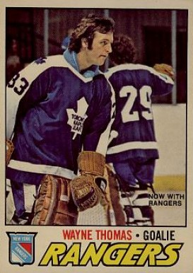 1977 O-Pee-Chee Wayne Thomas #19 Hockey Card