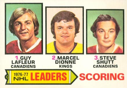 1977 O-Pee-Chee Scoring Leaders #3 Hockey Card