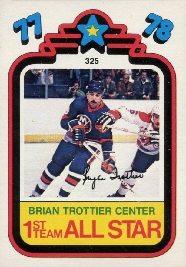 1978 O-Pee-Chee Bryan Trottier #325 Hockey Card