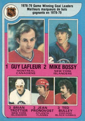 1979 O-Pee-Chee Game Winning Goal Leaders #7 Hockey Card