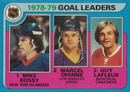 1979 Topps Goal Leaders #1 Hockey Card