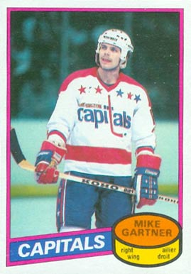 1980 O-Pee-Chee Mike Gartner #195 Hockey Card