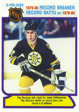 1980 O-Pee-Chee Ray Bourque #2 Hockey Card