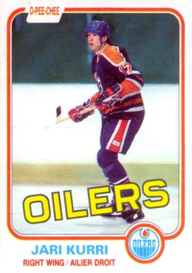 1981 O-Pee-Chee Jari Kurri #107 Hockey Card