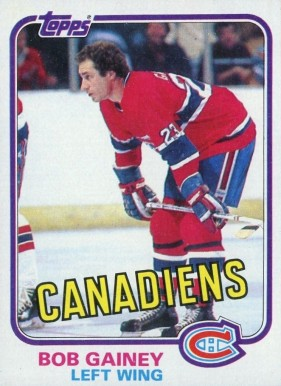 1981 Topps Bob Gainey #13 Hockey Card