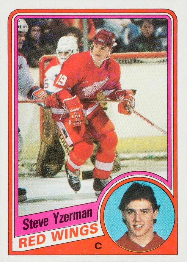 1984 Topps Steve Yzerman #49 Hockey Card