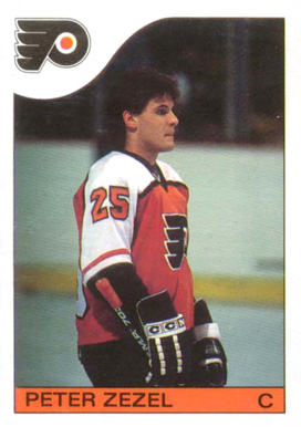 1985 O-Pee-Chee Peter Zezel #24 Hockey Card