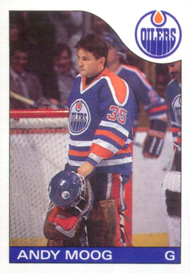 1985 O-Pee-Chee Andy Moog #12 Hockey Card