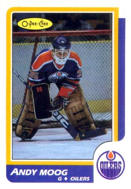 1986 O-Pee-Chee Andy Moog #212 Hockey Card