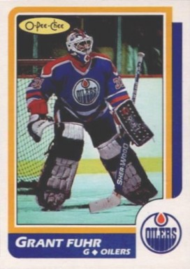 1986 O-Pee-Chee Grant Fuhr #56 Hockey Card