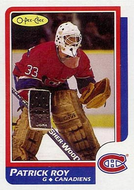 1986 O-Pee-Chee Patrick Roy #53 Hockey Card