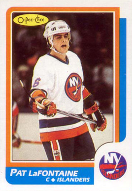 1986 O-Pee-Chee Pat LaFontaine #2 Hockey Card