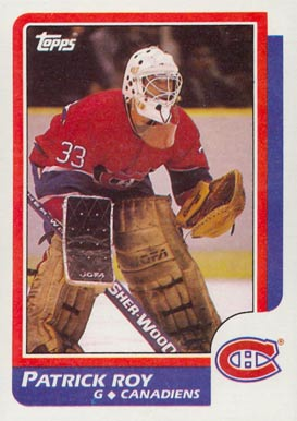 1986 Topps Patrick Roy #53 Hockey Card
