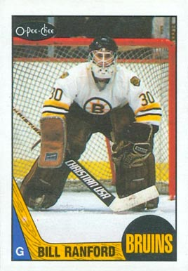 1987 O-Pee-Chee Bill Ranford #13 Hockey Card