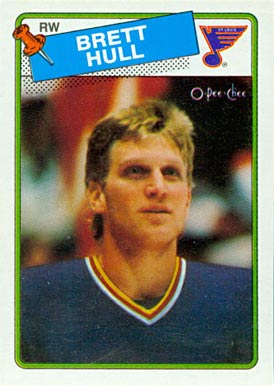 1988 O-Pee-Chee Brett Hull #66 Hockey Card