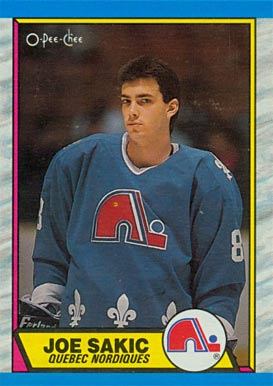 1989 O-Pee-Chee Joe Sakic #113 Hockey Card
