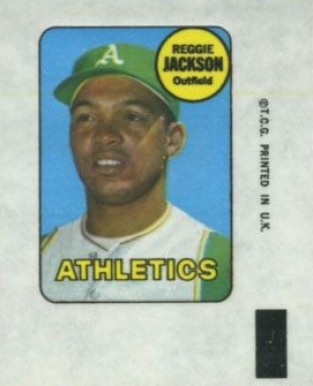1969 Topps Decals Reggie Jackson #19 Baseball Card