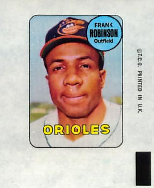 1969 Topps Decals Frank Robinson #35 Baseball Card