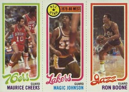 1980 Topps Cheeks/Johnson/Boone #38 Basketball Card