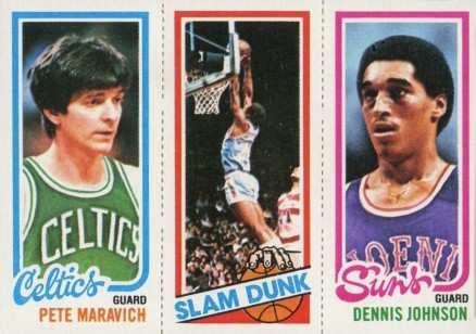 1980 Topps Maravich/Free/Johnson #101 Basketball Card