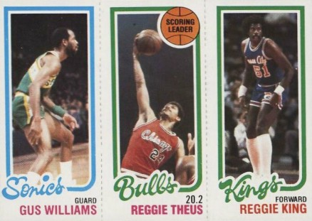 1980 Topps Williams/Theus/King #176 Basketball Card