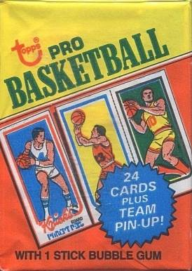 1980 Topps Wax Pack #WP Basketball Card