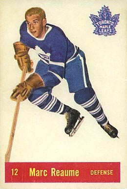 1957 Parkhurst Marc Reaume #12-Rea Hockey Card