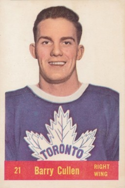 1957 Parkhurst Barry Cullen #21-Cul Hockey Card