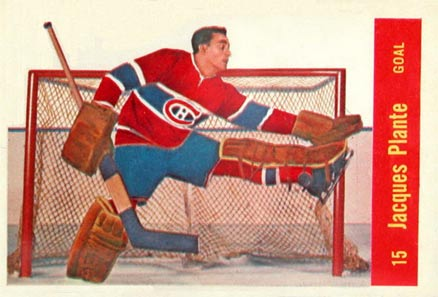1957 Parkhurst Jacques Plante #15-Pla Hockey Card