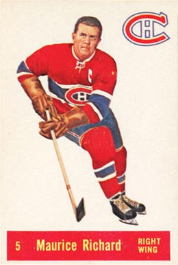 1957 Parkhurst Maurice Richard #5-Rich Hockey Card