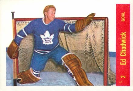 1957 Parkhurst Ed Chadwick #2-Chad Hockey Card