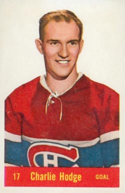 1957 Parkhurst Charlie Hodge #17-Hod Hockey Card
