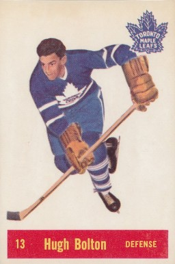 1957 Parkhurst Hugh Bolton #13-Bol Hockey Card