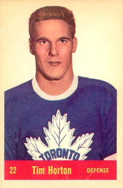 1957 Parkhurst Tim Horton #22-Hor Hockey Card