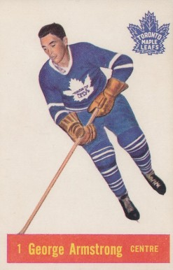 1957 Parkhurst George Armstrong #1-Arms Hockey Card