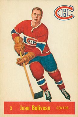 1957 Parkhurst Jean Beliveau #3-Bel Hockey Card