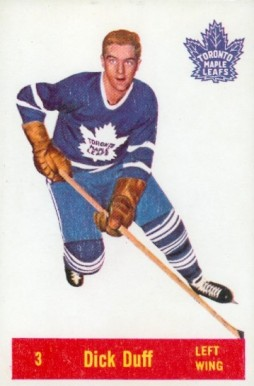 1957 Parkhurst Dick Duff #3-Duff Hockey Card