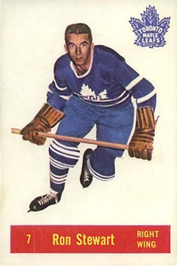 1957 Parkhurst Ron Stewart #7-Stew Hockey Card