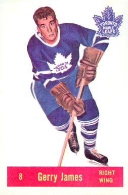 1957 Parkhurst Gerry James #8-Jam Hockey Card