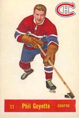 1957 Parkhurst Phil Goyette #11-Goy Hockey Card