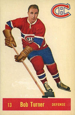 1957 Parkhurst Bob Turner #13-Tur Hockey Card