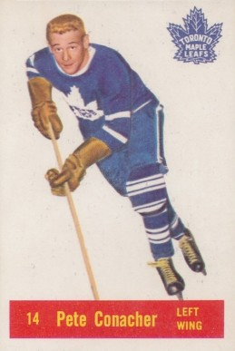 1957 Parkhurst Pete Conacher #14-Con Hockey Card