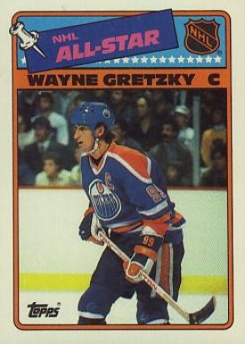 1988 Topps Stickers Wayne Gretzky #8 Hockey Card