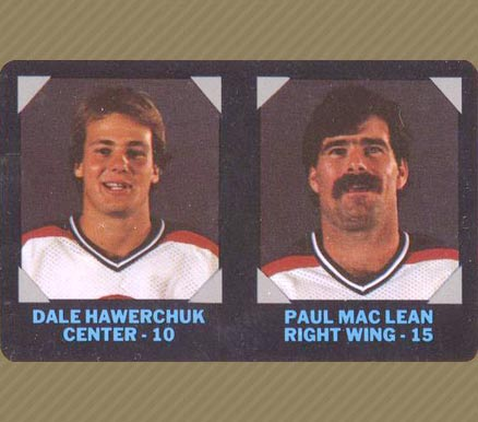 1985 7-Eleven Dale Hawerchuk #21 Hockey Card