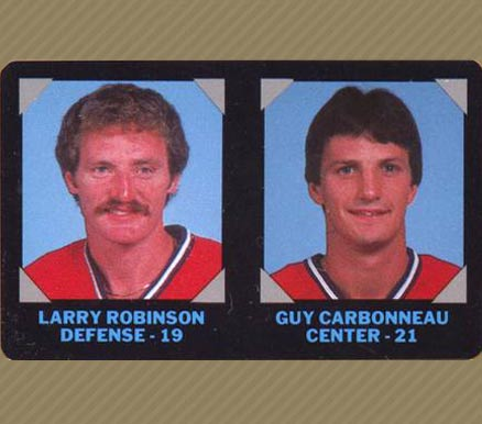 1985 7-Eleven Larry Robinson #10 Hockey Card