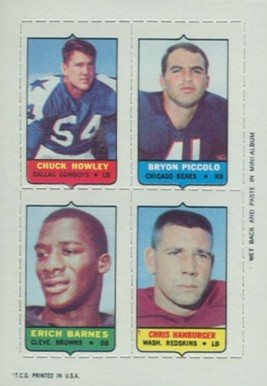 1969 Topps Four in One Chuck Howley #26 Football Card