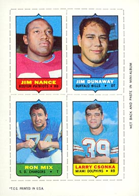 1969 Topps Four in One Jim Nance #41 Football Card